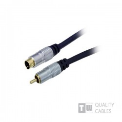 Gold 1.5M  Hq Premium S-Video Plug To 1Rca M blister pack